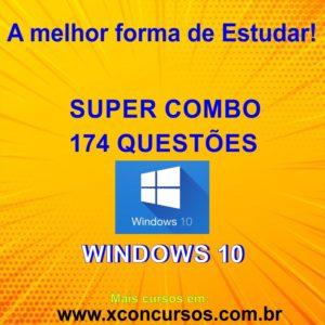 174 Questões de Windows 10 para Concursos